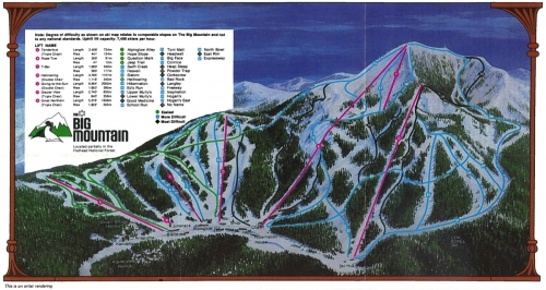1983/84 Trail Map