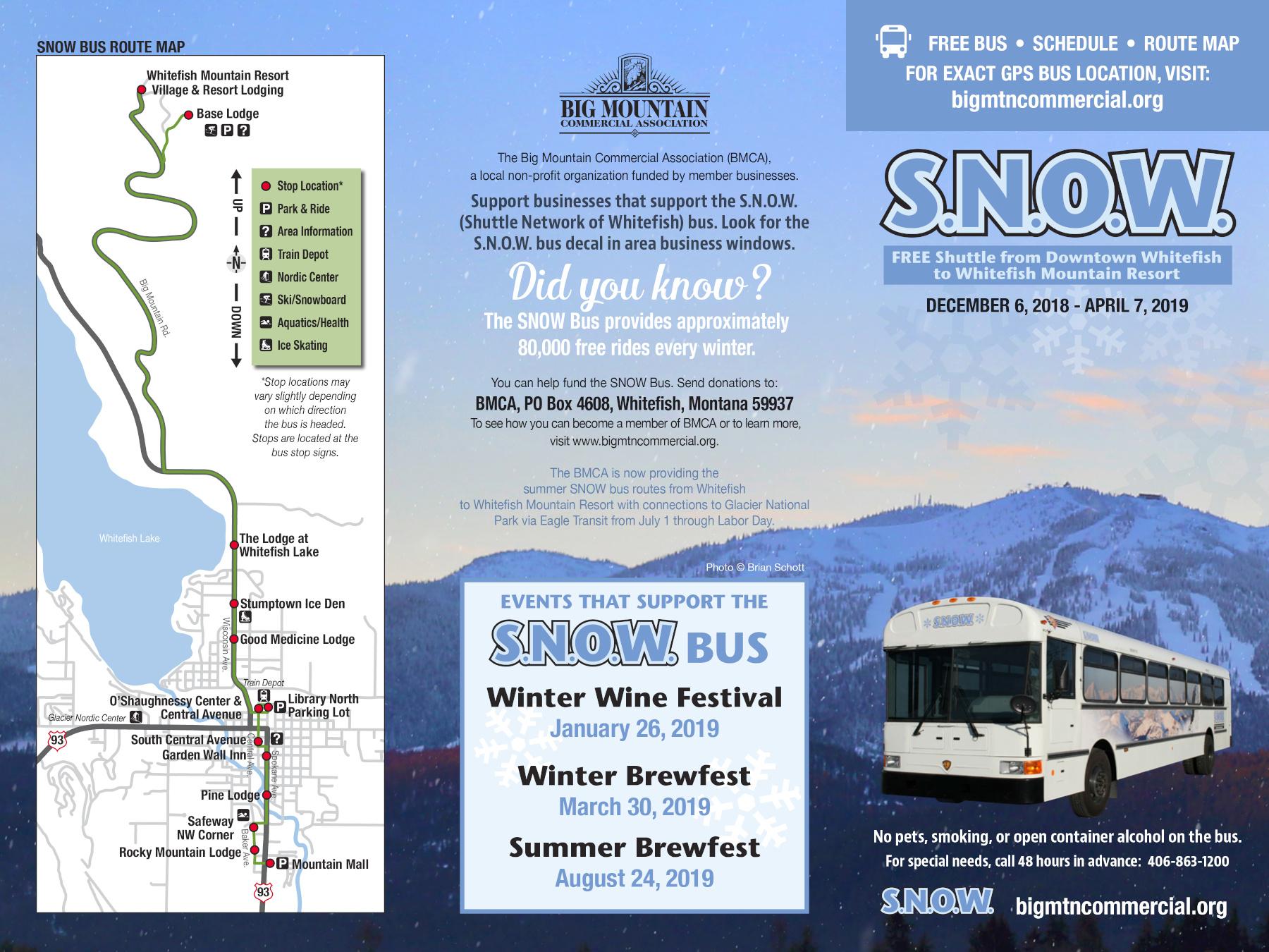 SNOW Bus Map